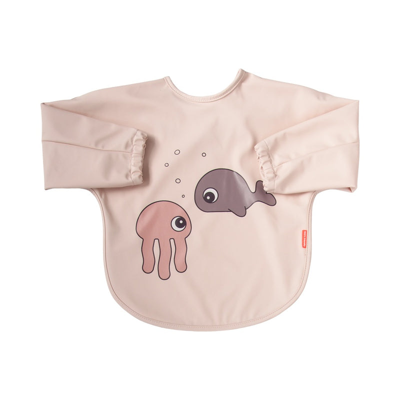 Pink Sea Friends Sleeved Bib