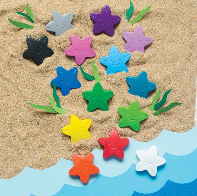 Stars Of The Sea Starfish Crayons- Set of 16