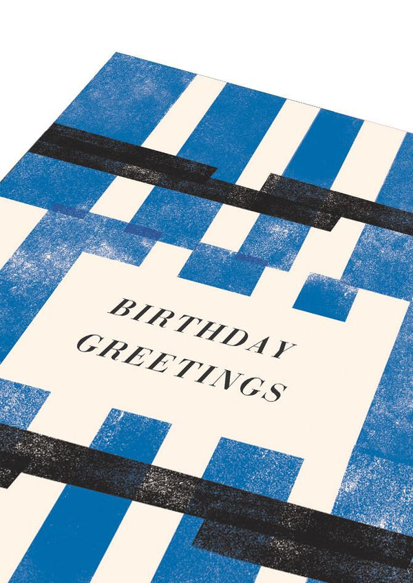 Blue Birthday Greetings Card
