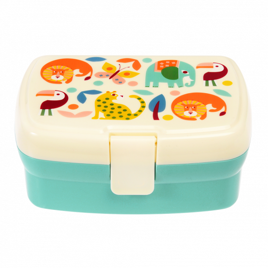 This lunch box has a removable tray with two handy compartments, so it's easy to keep veggies and fruits separated. Perfect for wildlife fans at Crane and Kind