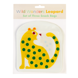 Leopard Reusable Snack Bags (set Of 3)