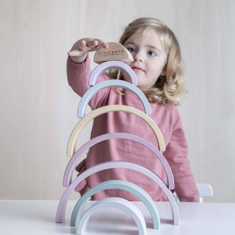 Pink Wooden Rainbow Stacker