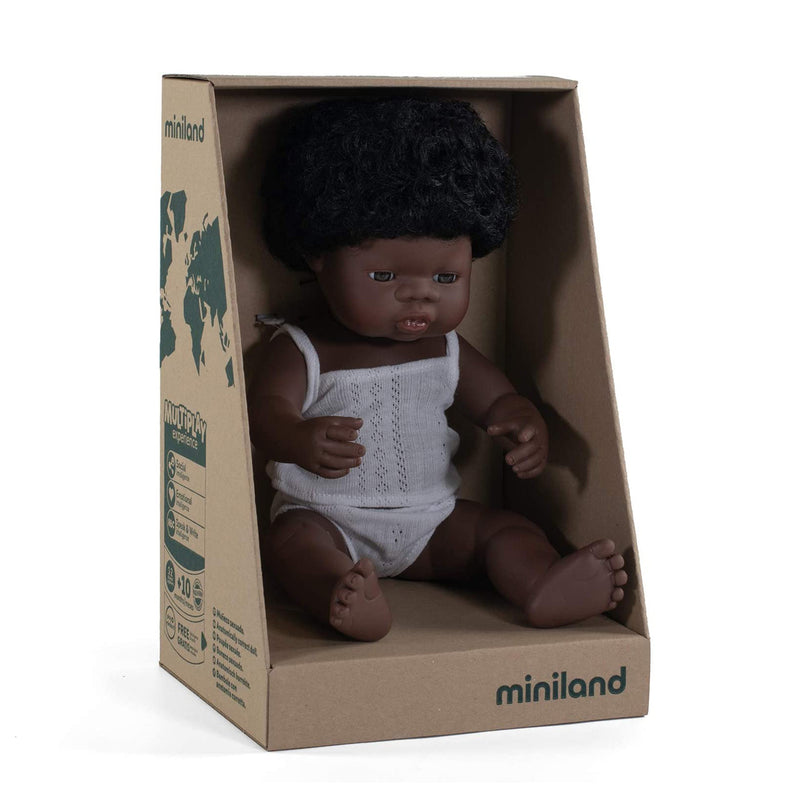 Black Toddler Girl Doll - 38cm