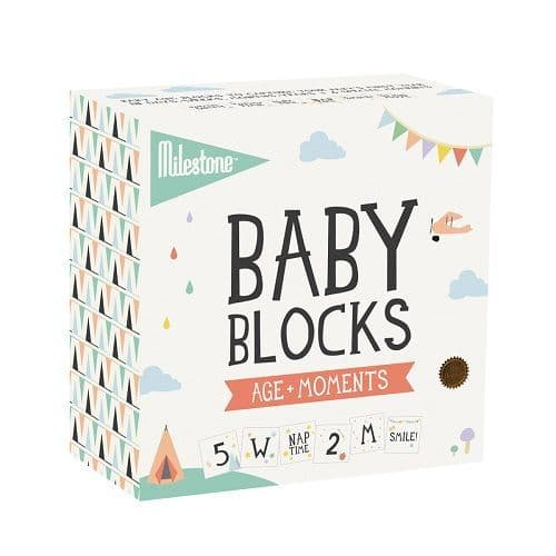 baby blocks by milestone age and moments 4 blocks for  adding to photos of your babies memorable moments at Crane and Kind