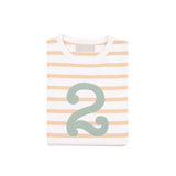 Biscuit & Green Number Tee