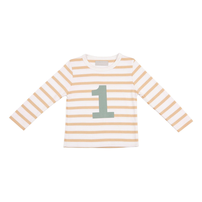 Number 1 Biscuit Striped Tee - Crane and Kind