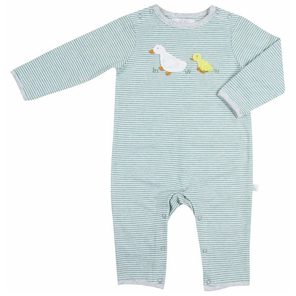 crochet domi duck baby grow by Albetta at crane and kind