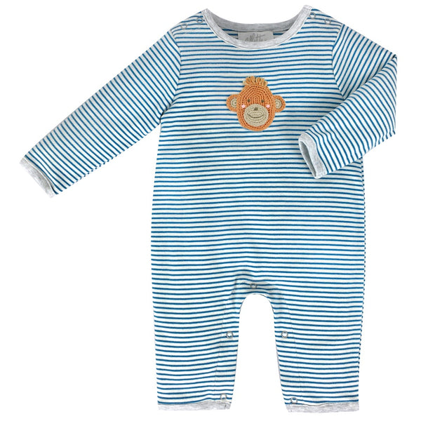 Crochet Marcel Monkey Babygrow by Albetta at Crane and Kind