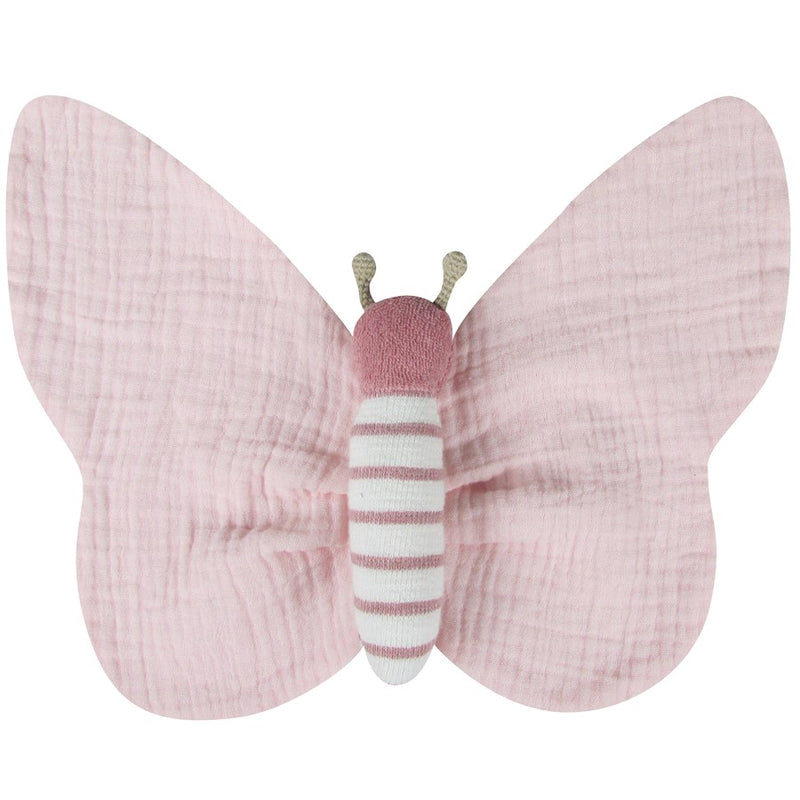 Swaddle Pink Butterfly cuddle toy by albetta at crane and kind