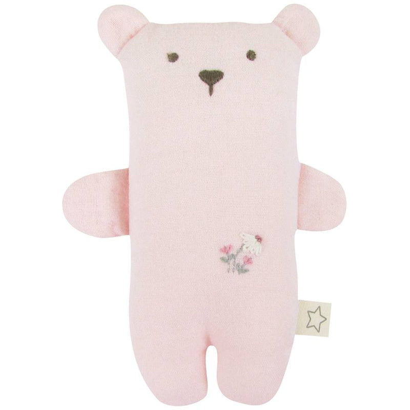 pink muslin bear cuddle toy by albetta at crane and kind