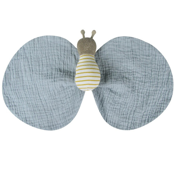 swaddle bee cuddle toy by albetta at crane and kind