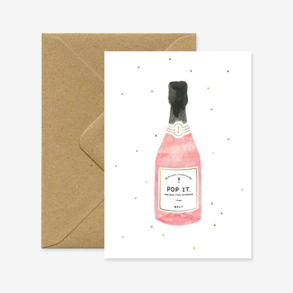 Champagne Card - Crane and Kind