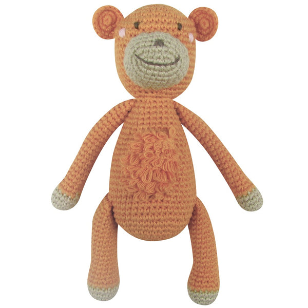 crochet marcel monkey by albetta at Crane and Kind