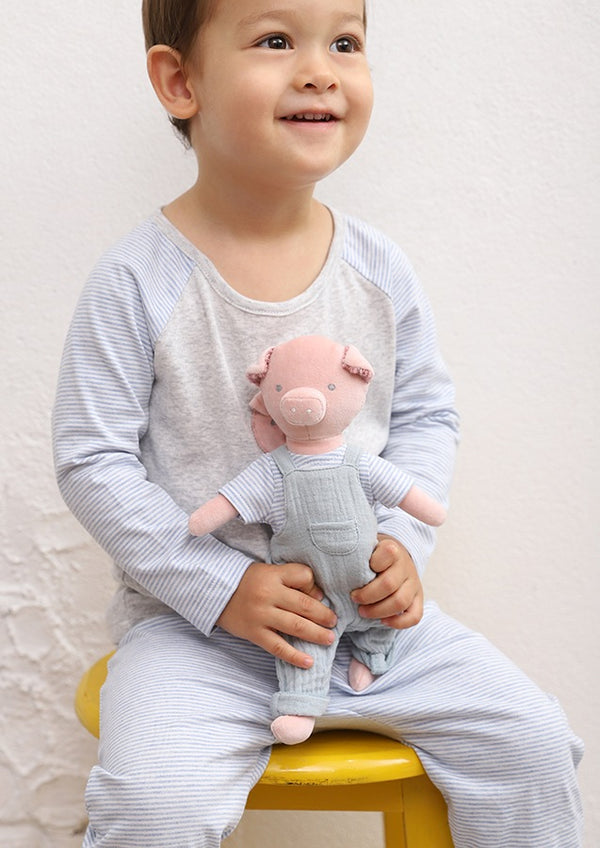 velvet pig toy by albetta at crane and kind