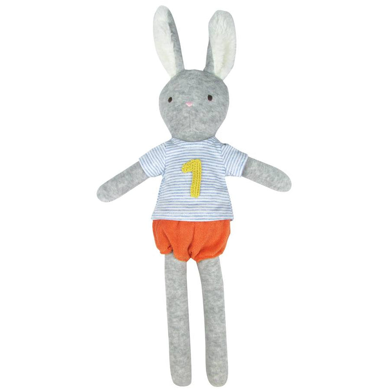 1st Birthday Bunny Toy by Albetta at Crane and Kind