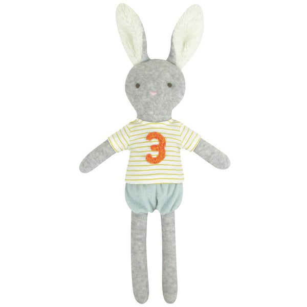 3rd Birthday Bunny Toy by Albetta at Crane and Kind