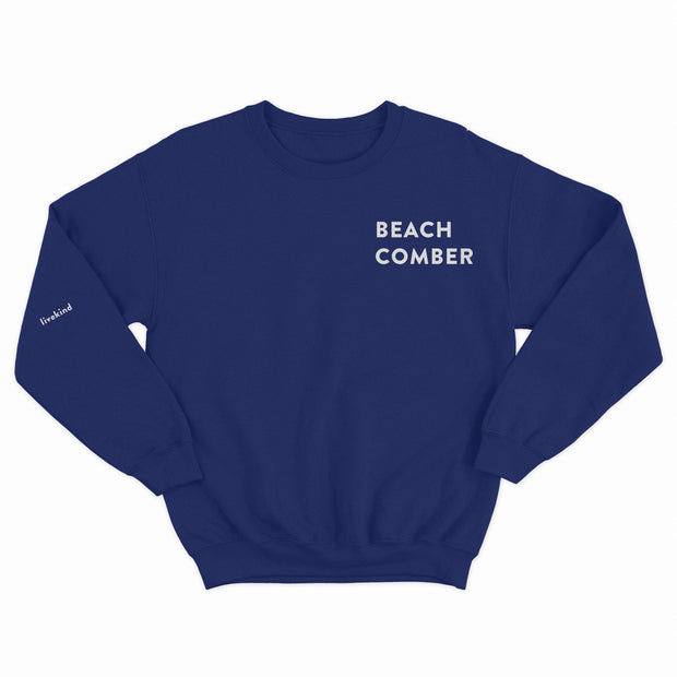 Front of the adults Beach Comber Sweatshirt by Crane and Kind with Surfers Against Sewage