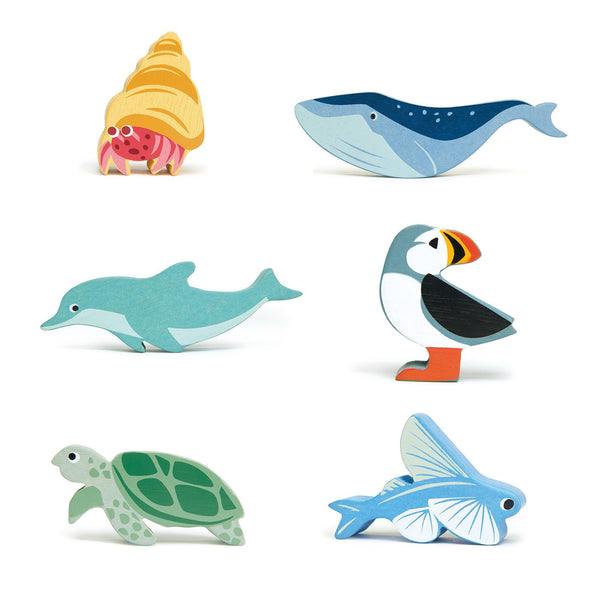Coastal Animals Wooden Toy Set