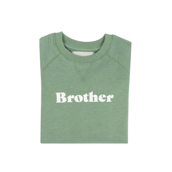 fern green brother sweatshirt at Crane and Kind by Bob and blossom