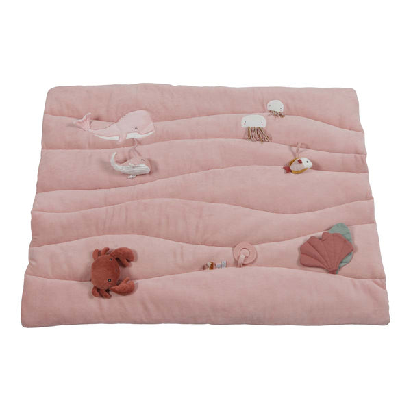 Pink Ocean Padded Playmat