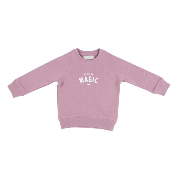 dusty pink relaxed fit super soft sweatshirt featuring believe in magic sweatshirt by bob and blossom at crane and kind