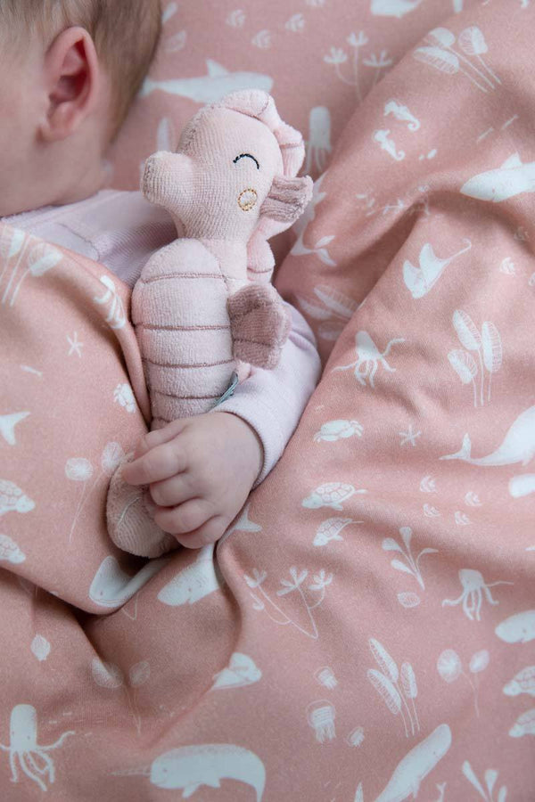 Ocean Pink Seahorse Rattle Toy