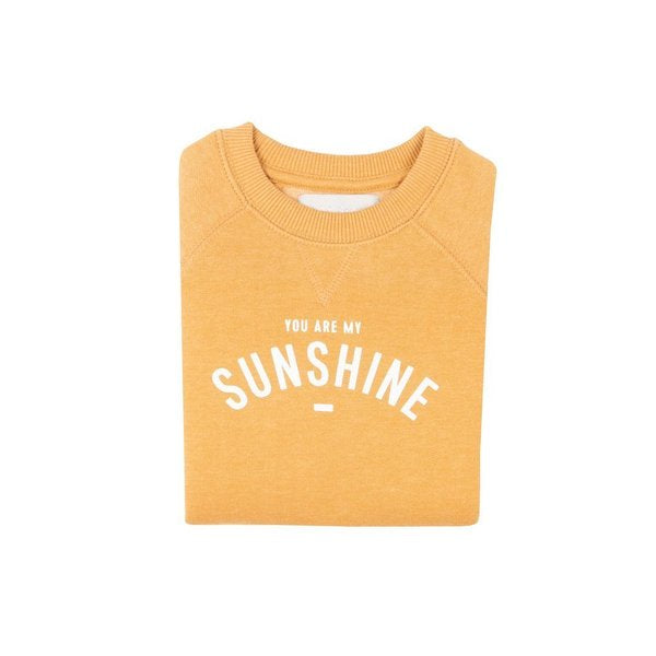 You are my sunshine mustard yellow sweatshirt at Crane and Kind by bob and blossom