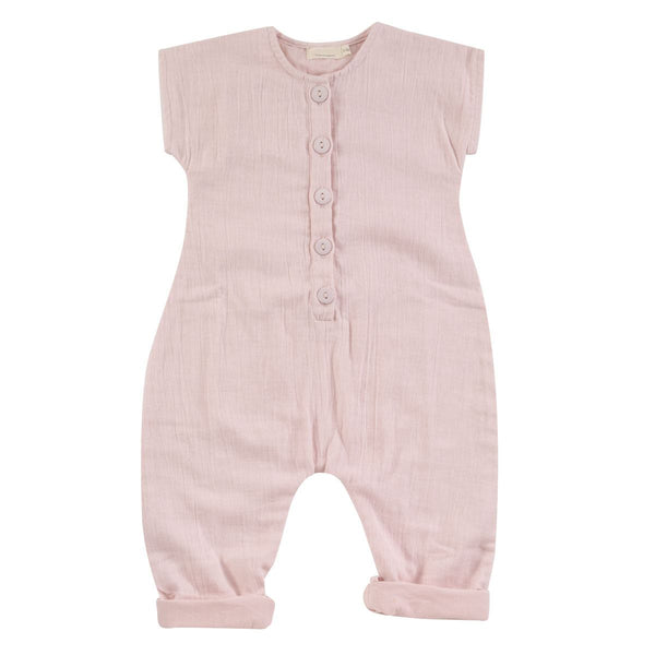 Pink Muslin Jumpsuit by Pigeon at Crane and kind