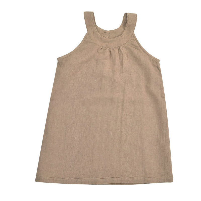 Taupe Sun Dress by Pigeon at Crane and Kind