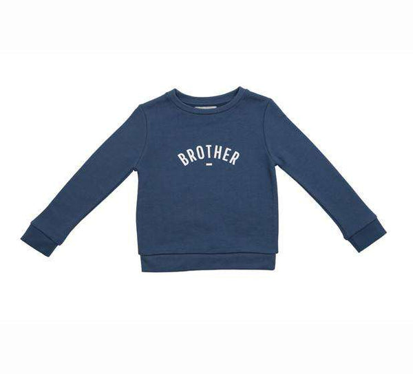 Denim Blue Brother Sweatshirt - Crane and Kind