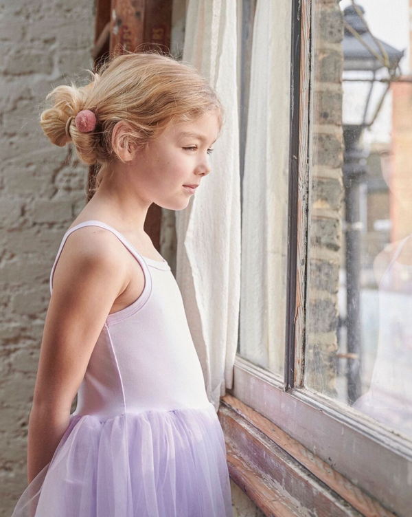 soft lilac tutu party dress with tulle skirt from bob and blossom at crane and kind