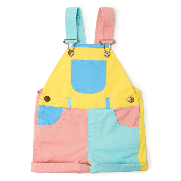 Pastel Colourblock Dungarees by Dotty Dungarees at Crane and Kind