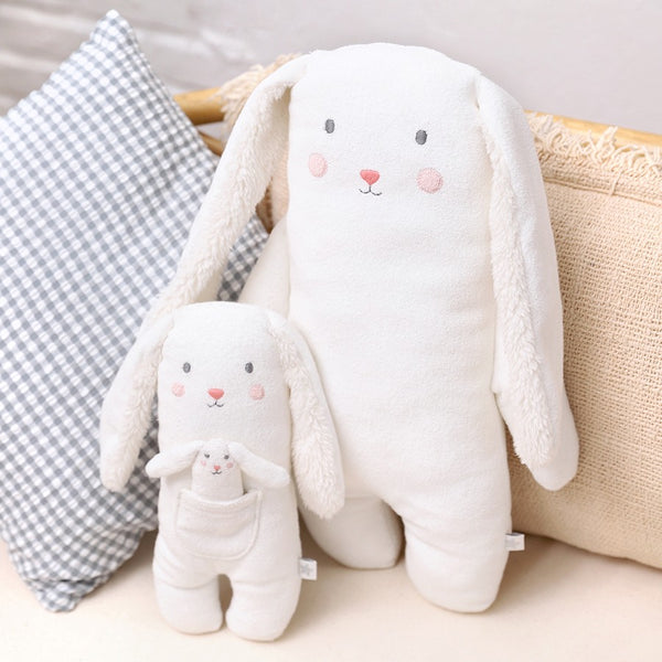 Bunny Towelling Toy by Albetta at Crane and Kind