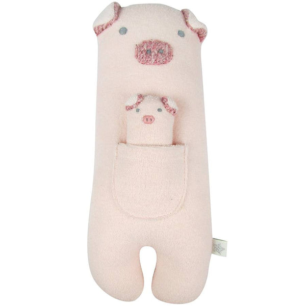 Pig Towelling Toy by Albetta at Crane and Kind
