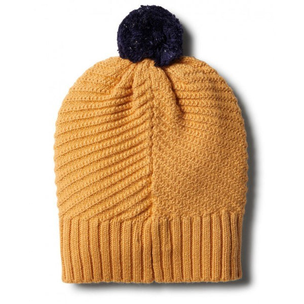 Golden Apricot Chevron Knitted Hat