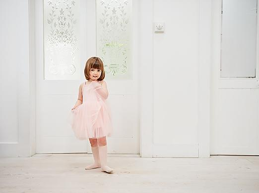 blush pink tutu party dress with tulle skirt from bob and blossom at crane and kind