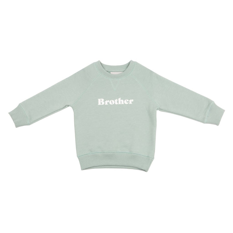 Sage Brother relaxed fit super soft sweatshirt for sibling twinning style at Crane and Kind