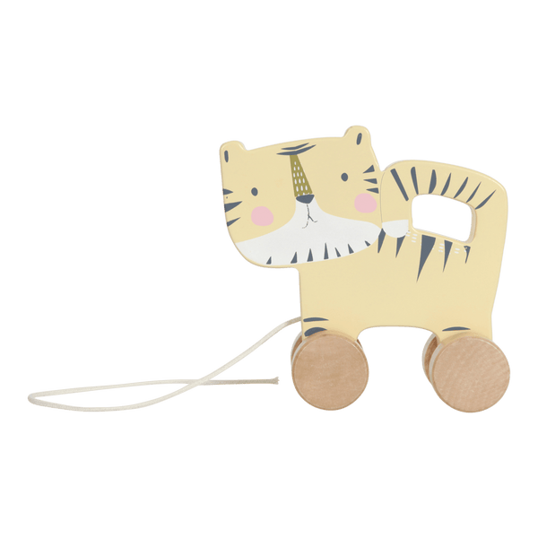 Wooden Pull Along Tiger