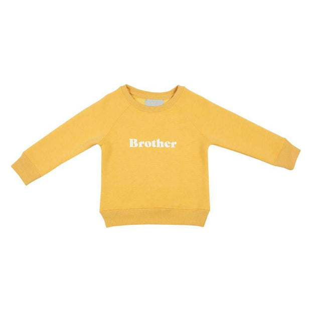Matching and twinning brother sister faded sunshine yellow sweater jumper by Bob and Blossom