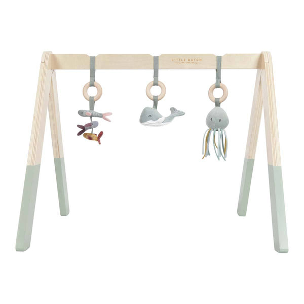 Mint Ocean Wooden Baby Gym