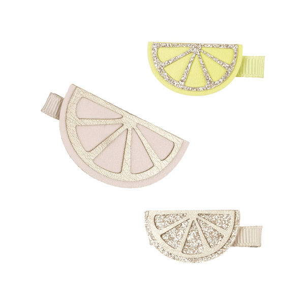 citrus slice hair clips by mimi and Lula at crane and kind