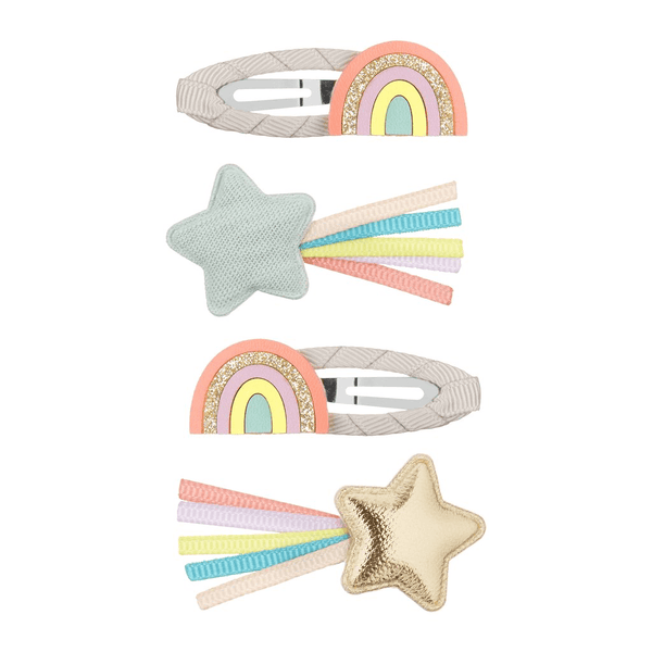 Over the rainbow hair clips by mimi and Lula at crane and kind