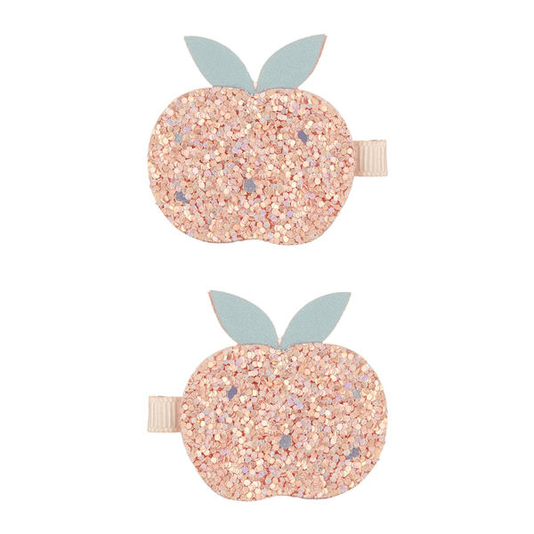 Glitter peach hair clips by mimi and Lula at crane and kind
