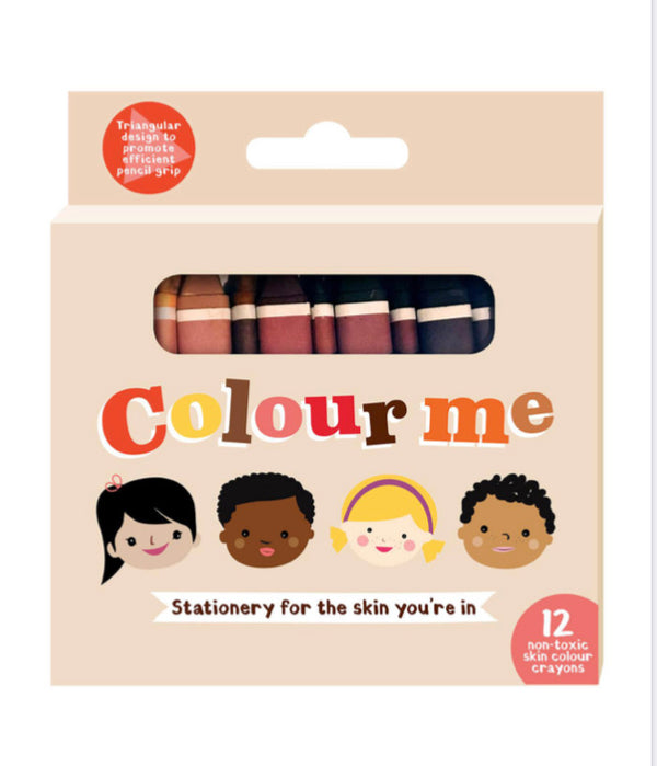 Colour Me Crayons (12 non toxic skin colour crayons)