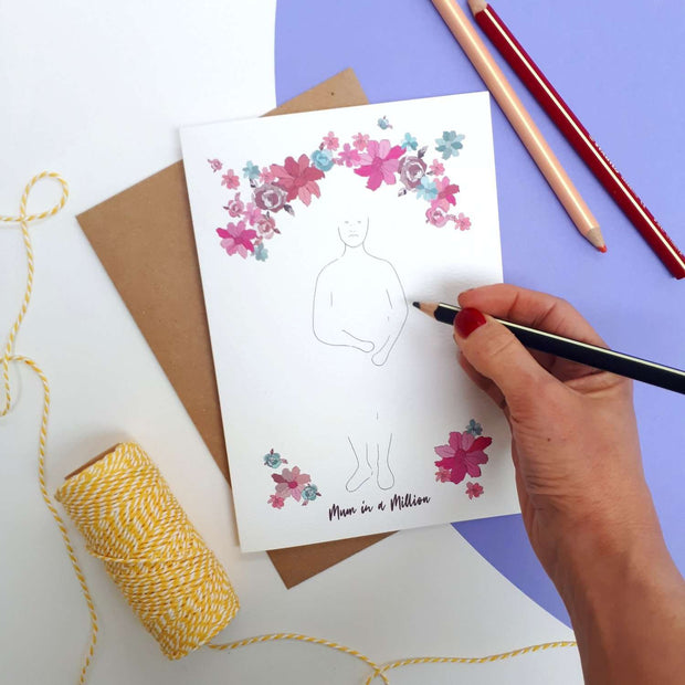 Personalise Your Own Mum in a Million Card
