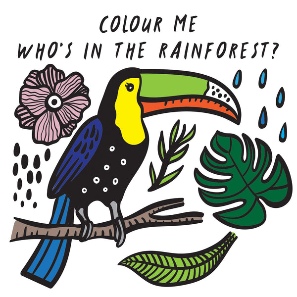colour me who's in the rainforest bath painting water magic book  at crane and kind