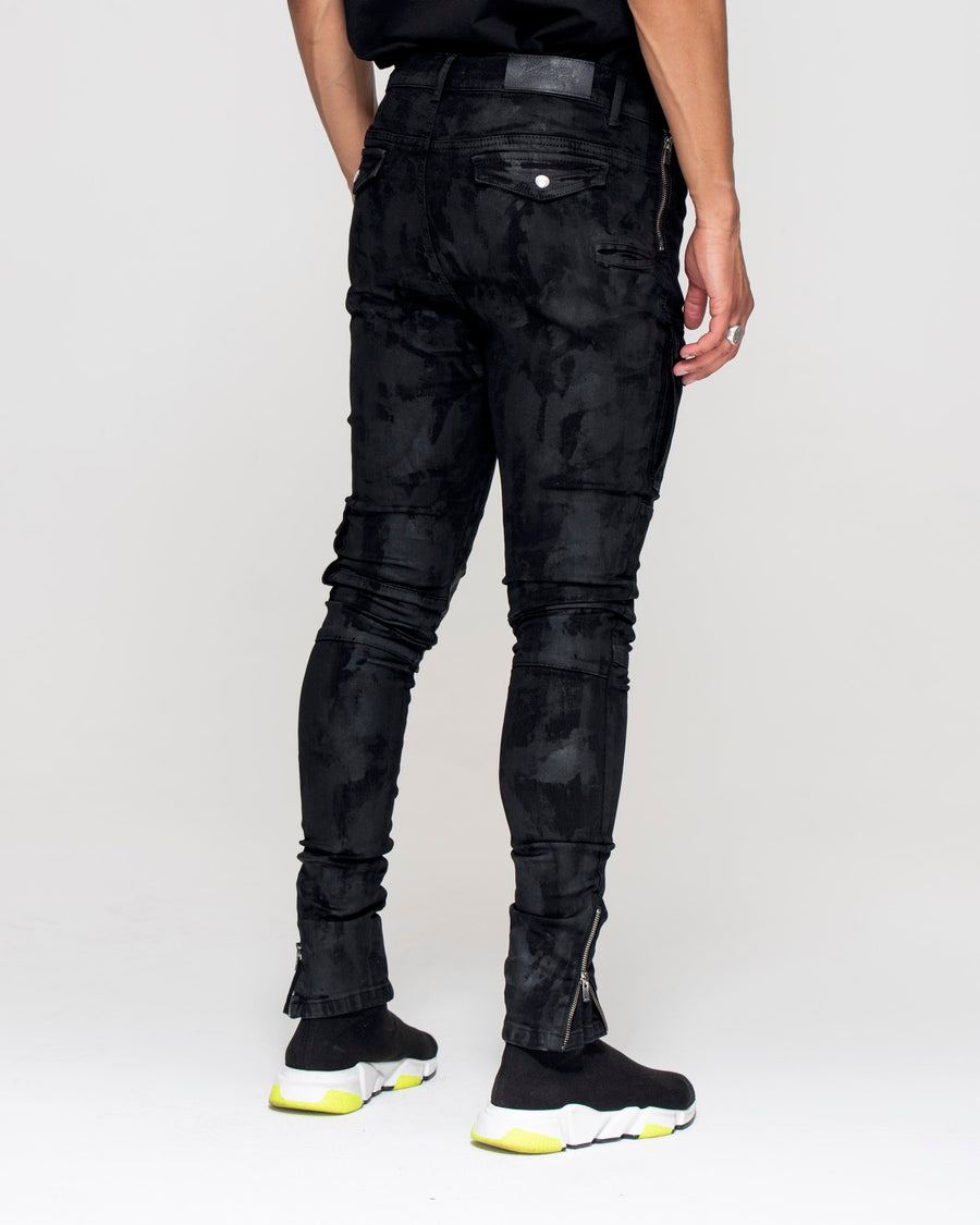 Kago Jeans Black Wax