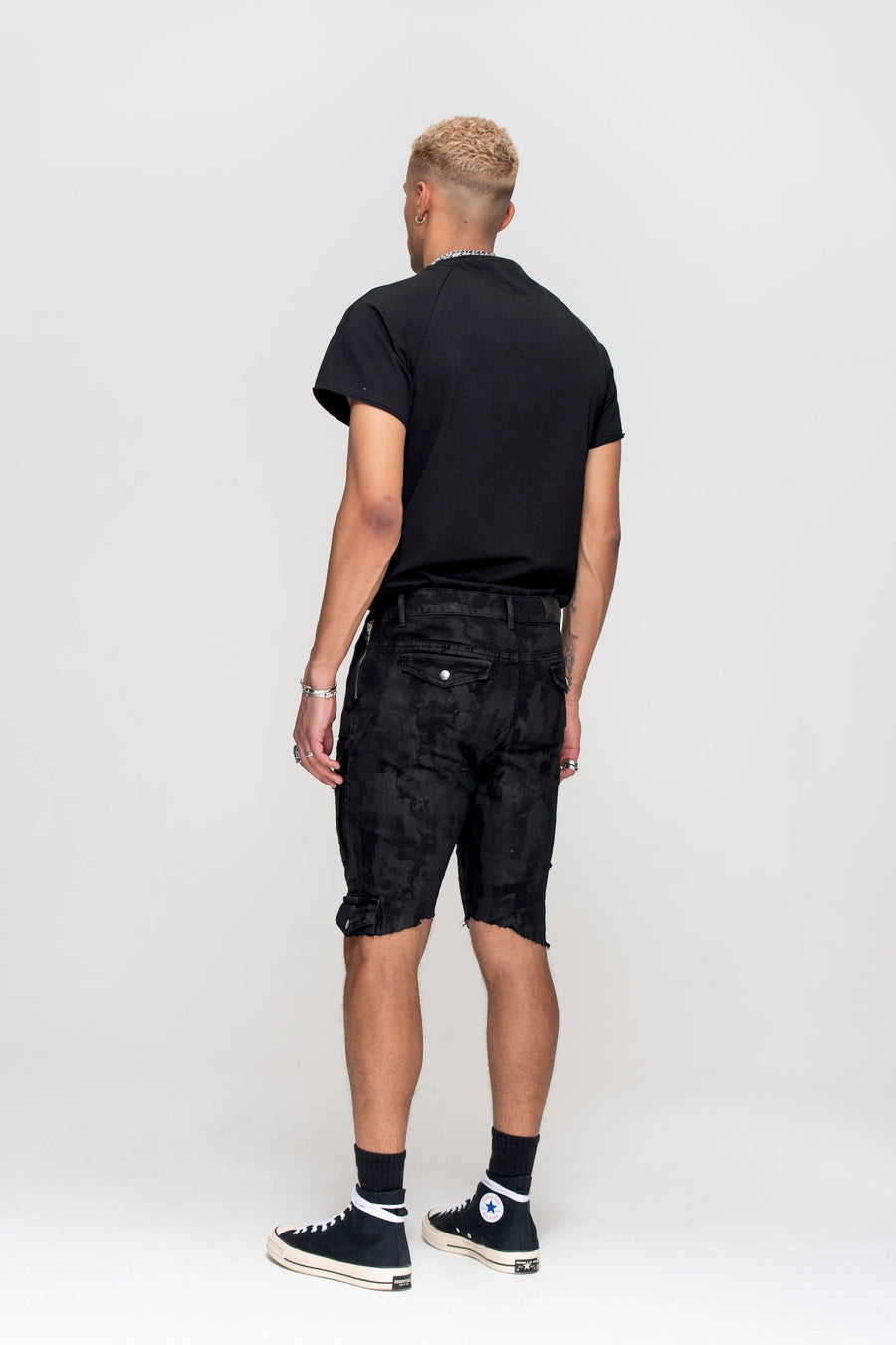 Kago Shorts Black Wax