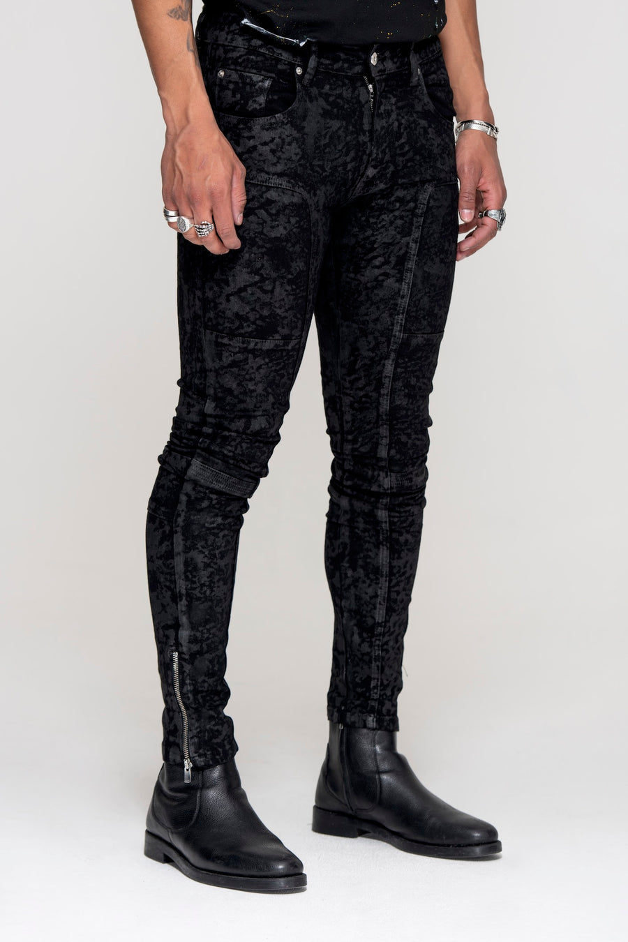 Essential Jeans Black Wax - Men's Slim Fit Jeans