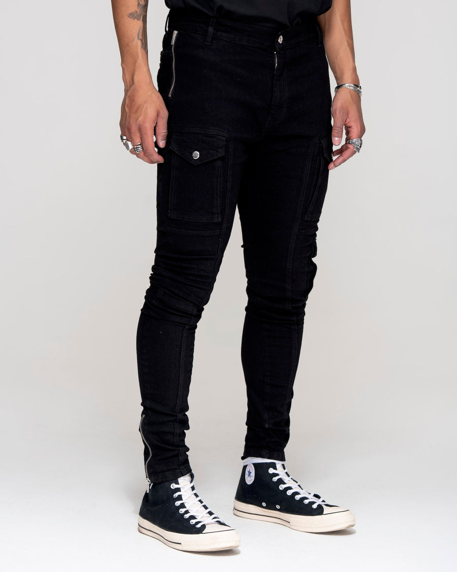 Kago Jeans Jet Black - Violent Rose Jeans